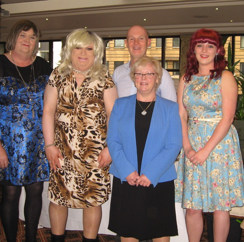 Fiona, Linda, James, Lesley and Charley at the Belfast Butterfly Club Silver Anniversary