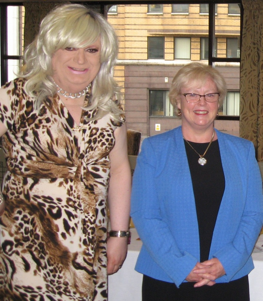 Linda Marshall with Rev Dr Lesley Carroll at BBC 25th Anniversary event