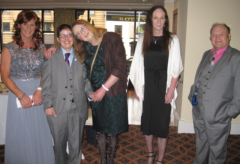 Martine, Michael, Adrianne, Nikki and Stephen at the Belfast Butterfly Club Silver Anniversary